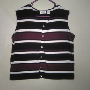 Christopher&banks striped sleeveless top. XL.